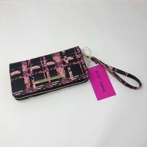 Betsy Johnson zip wallet/wristlet
